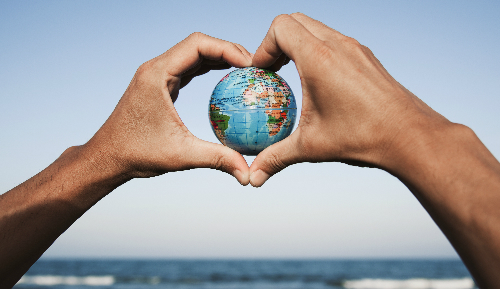 World in Heart Hands